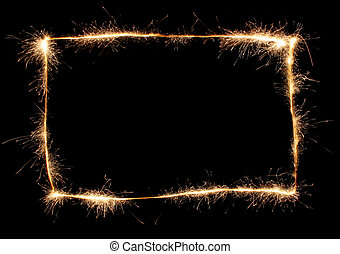 sparkler, frame