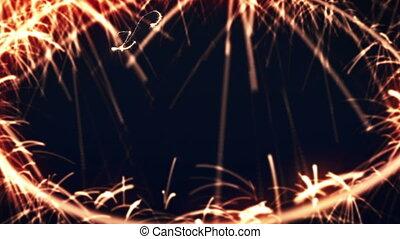 sparkler, jaarwisseling, 2012, vrolijke