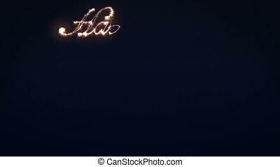 sparkler, nieuw, 2012, vrolijke , jaar
