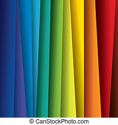 spectrum, of, kleur, kleurrijke, bladen, graphic., abstract, papier, (backdrop), regenboog, achtergrond, illustratie, -, vector, bevat, dit
