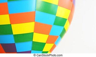 speelbal, revolves, bal, lucht, deel, achtergrond, witte , gekleurd