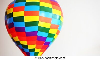 speelbal, revolves, lucht, bal, achtergrond, witte , gekleurd