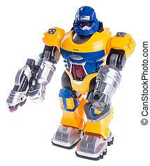 speelgoed robot, achtergrond