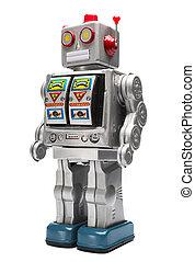 speelgoed robot, tin