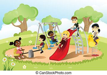 speelplaats, kinderen