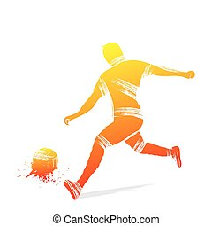 speler, voetbal, ontwerp