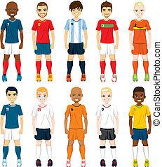 spelers, nationale, voetbalelftal