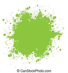 splatter, groene, inkt