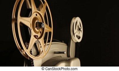 spoelen, projector, film