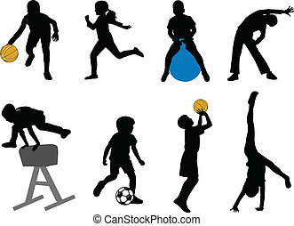 sportende, kinderen