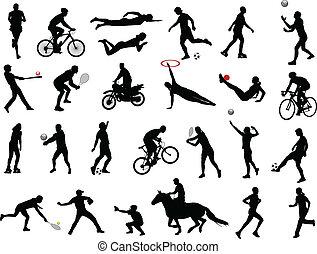 sportende, verzameling