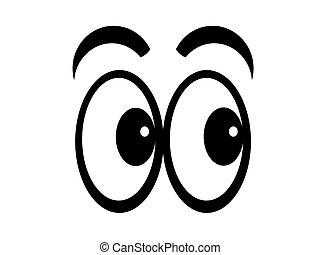 spotprent, eyes