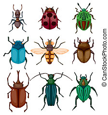 spotprent, insect, pictogram, insect