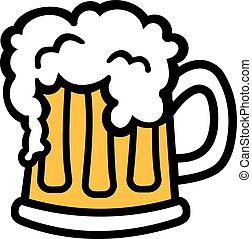 spotprent, mok, schuim, bier