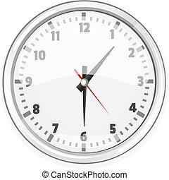 spotprent, vector, de klok van de muur