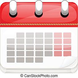 spotprent, zakelijk, vector, kalender