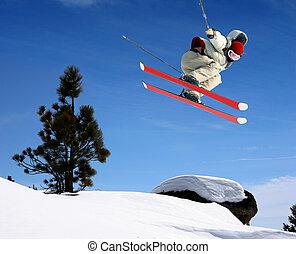 springt, skier
