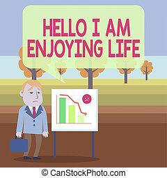 spullen, foto, conceptueel, whiteboard, ontspannen, hallo, zakelijk, geval, chart., het tonen, schrijvende , genieten, zakenman, life., showcasing, het genieten van, vrolijke , bar, levensstijl, eenvoudig, summier, hand, staand