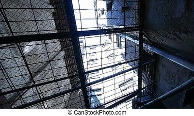 staaf, -, door, prison., hd, aanzicht