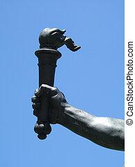 staal, libert, hand
