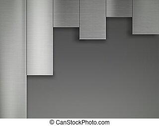 staal, metaal, pattern., textuur, achtergrond., plates., ijzer, geometrisch