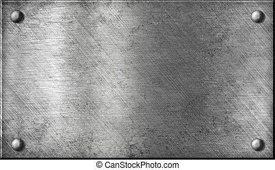 staal, schaaltje, aluminium, aluminium, metaal, of, klinknagelen