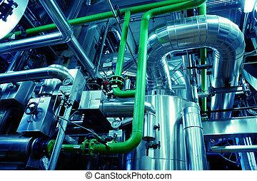 staal, uitrusting, industriebedrijven, pijpleidingen, zone