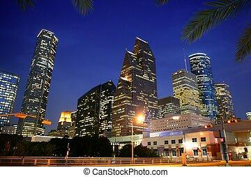 stad, dallas, downtown, bulidings, stedelijke , aanzicht