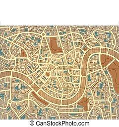 stad, naamloos, kaart