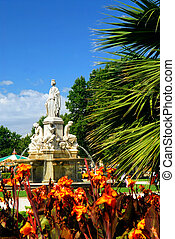 stad park, nimes, frankrijk
