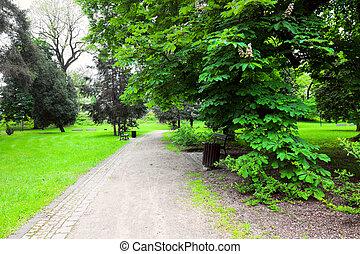 stad park, vredig