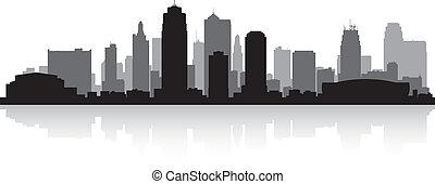 stad skyline, kansas, silhouette