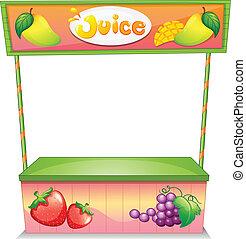 stalletje, verkoper, fruit