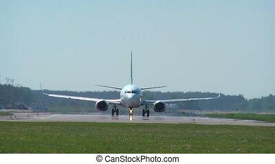 startbaan, -, vliegtuig, hd, 1080