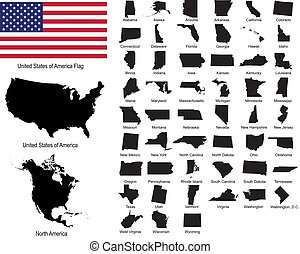 staten, vectors, usa