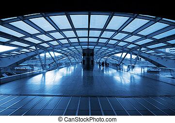 station, trein, moderne architectuur