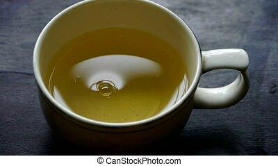 steaming, tea., water., china, kom