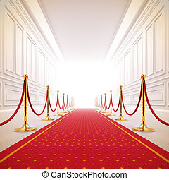 steegjes, light., rood, succes, tapijt