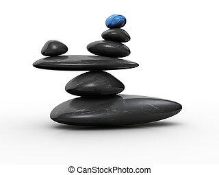 steen, evenwicht