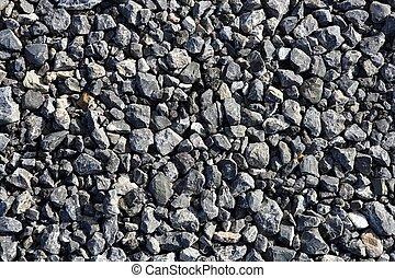 steen, grint, malen, vermalen, grijs, texturen, beton, asfalt