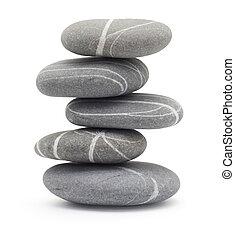 stenen, het in evenwicht brengen