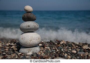 stenen, seashore