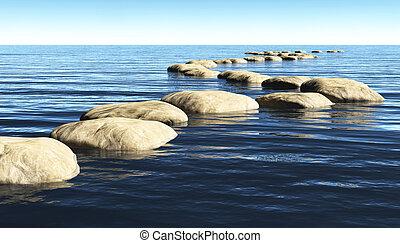stenen, water, steegjes