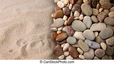 stenen, zand, rivier, kleurrijke