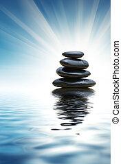 stenen, zen, stapel