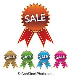 sticker, verkoop, pictogram