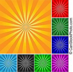 stijl, abstract, anders, achtergrond., kleuren, vector, retro, gradients.