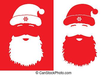 stijl, claus, mode, kerstman