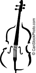 stijl, contrabass, caligraphy
