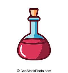 stijl, fles, vullen, ontwerp, vintage wijn, pictogram